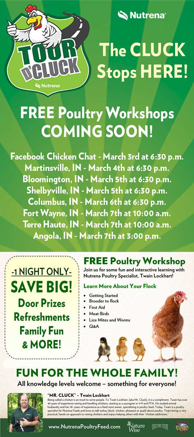 FREE Poultry Workshops in Indiana!