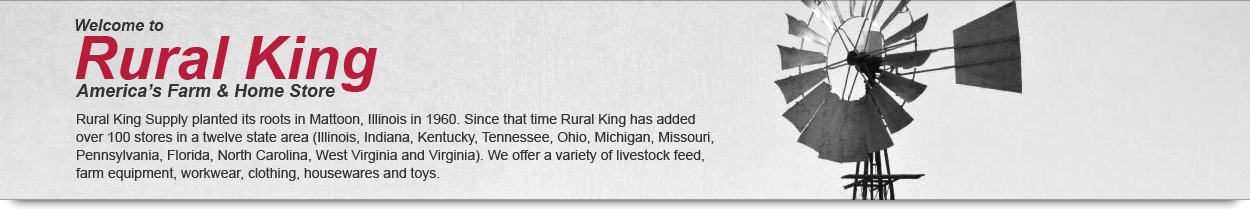 Welcome to Rural King America's Farm & Home Store